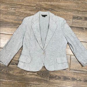 BCBGMAXAZRIA grey sequin blazer